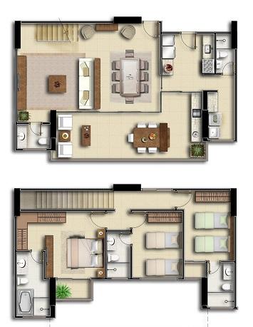 Plantas-de-casas-modernas-de-2-andares