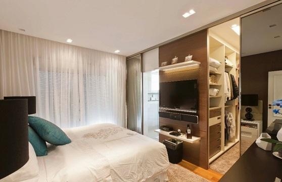 Closets pequenos e planejados  Decorando Casas -> Closet Pequeno Com Banheiro