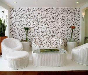 Decoração de paredes com tecido