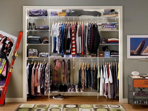 Projeto de closet pequeno