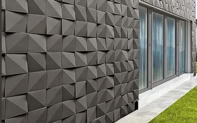 Revestimento 3d decorando com eleg ncia decorando casas - Placas decorativas para pared interior ...