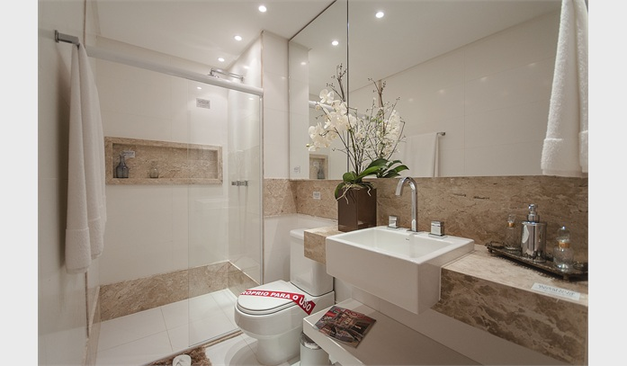 Decoração para deixar o banheiro bonito e clean  Decorando Casas -> Decoracao Banheiro Clean