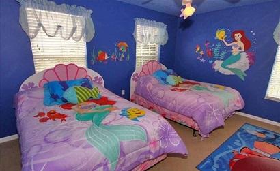 Decoração de quarto de menina no estilo sereia