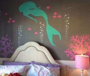 Decoração de quarto de menina no estilo sereia - Geral