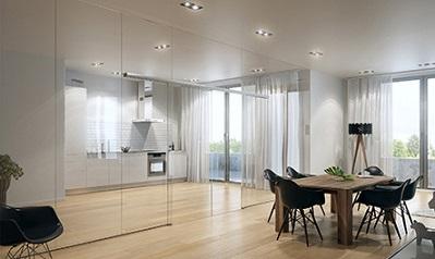 Portas de correr de vidro decorando casas - Glaswande innen ...