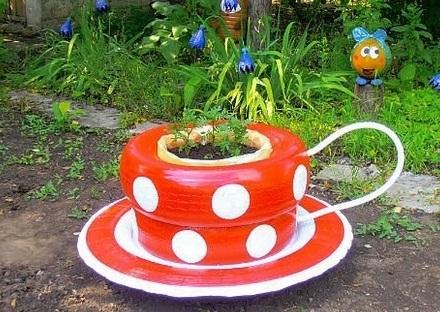 Como-fazer-um-jardim-com-pneus