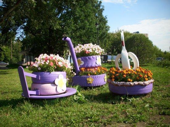 Como fazer um jardim com pneus