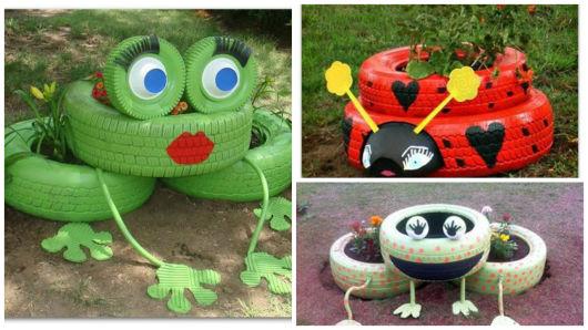 Como fazer um jardim com pneus - Animais