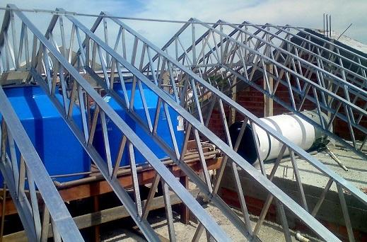 Estruturas de alumínio para telhados