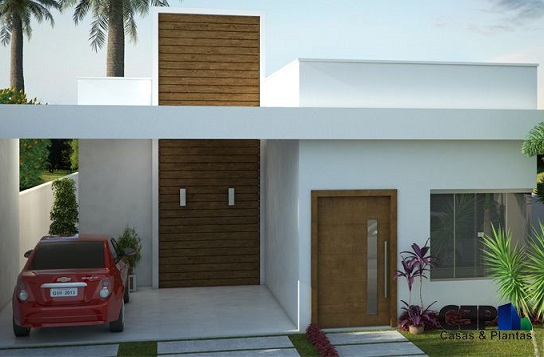 Fachadas de casas pequenas com telhado embutido for Decorando casa