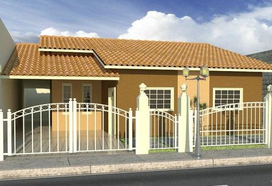 Fachadas-de-casas-populares-com-portão