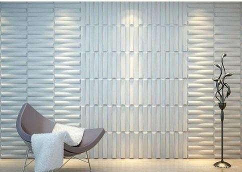 Revestimento 3D para paredes da cozinha, sala e banheiro