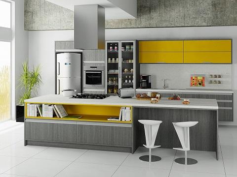 Cozinhas planejadas modernas coloridas
