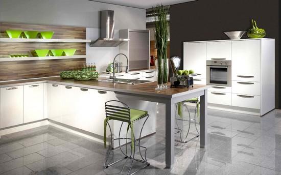 Cozinhas planejadas modernas em l