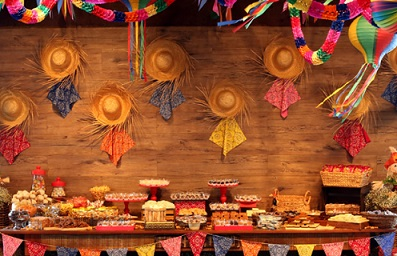 Decoração da festa junina em casa