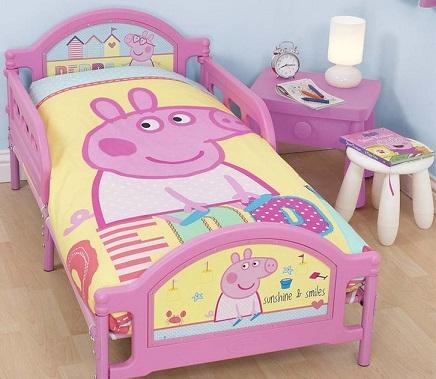 Decoração de quarto da Peppa Pig