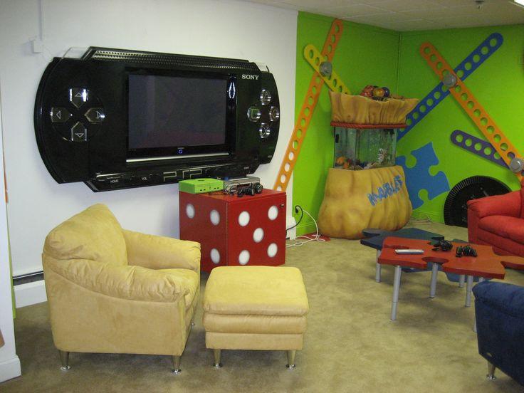 Decoração de sala de jogos