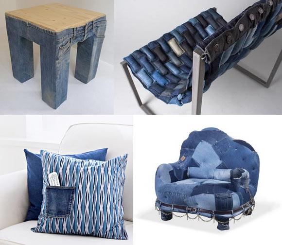 Ideias de decoração com jeans