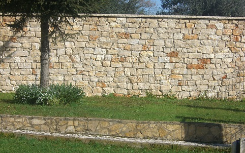 Muros de pedras rústicas