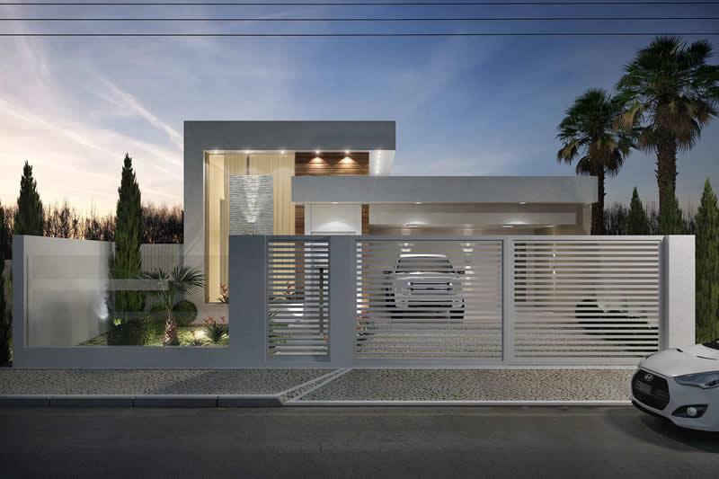 Tipos de muros para frente de casas