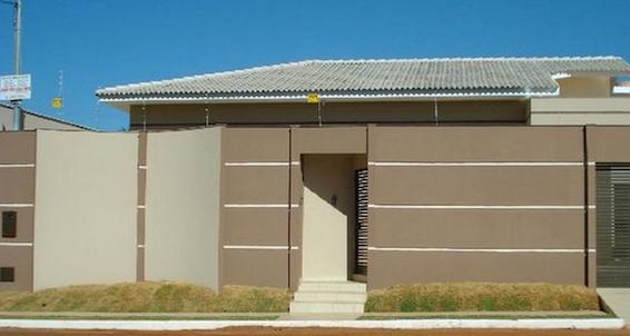 Tipos de muros para frente de casas decorando casas for Fotos de frentes de casas