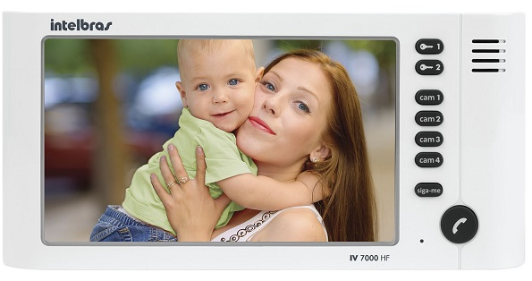 Vídeo Porteiro IV 7000 LCD 7 Handset Módulo Interno - Intelbras
