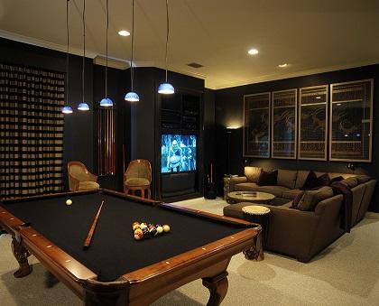 Decora o de sala com mesa de sinuca decorando casas for Spelletjes huis inrichten
