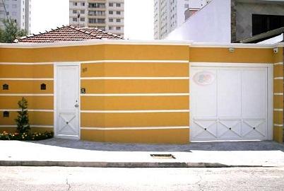 Fachadas de muros residenciais simples