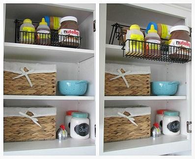 Como organizar o armário de cozinha