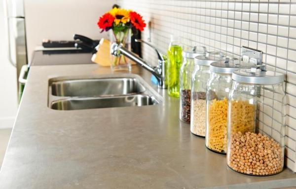 Decoração de cozinha com objetos reciclados