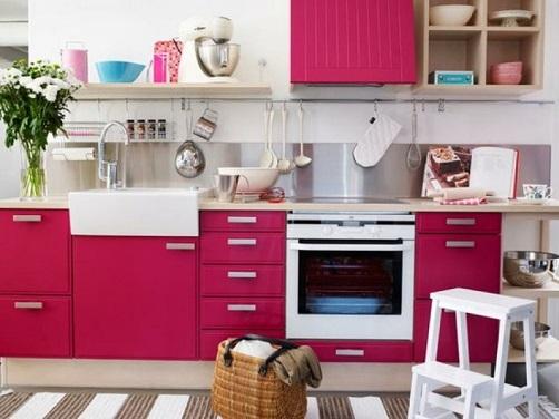 Decoração-de-cozinha-rosa
