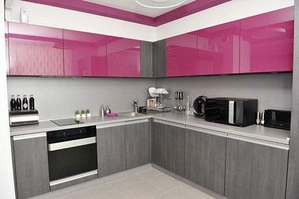 Decoração de cozinha rosa