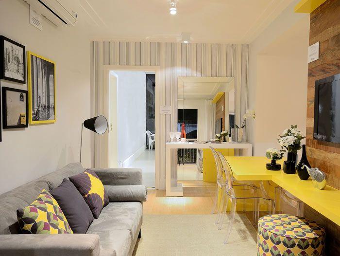 Decoração de sala com amarelo
