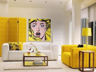 Decoração-de-sala-com-amarelo