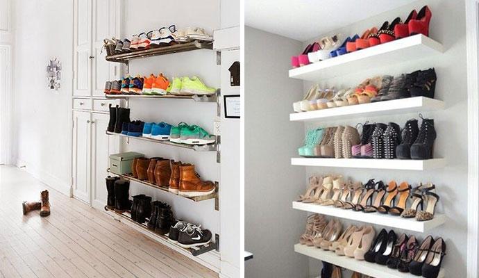 Ideias criativas para guardar os sapatos