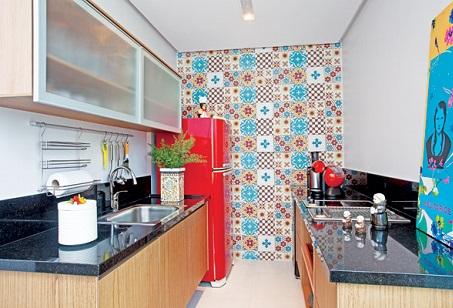 Decoração de cozinha com ladrilho hidráulico