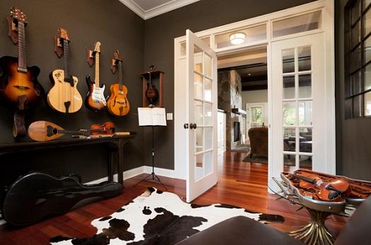 Decora o de sala com instrumentos musicais decorando casas - Categoria a3 casa ...