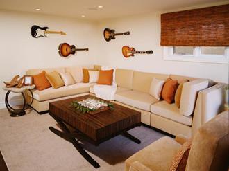 Decoração-de-sala-com-instrumentos-musicais