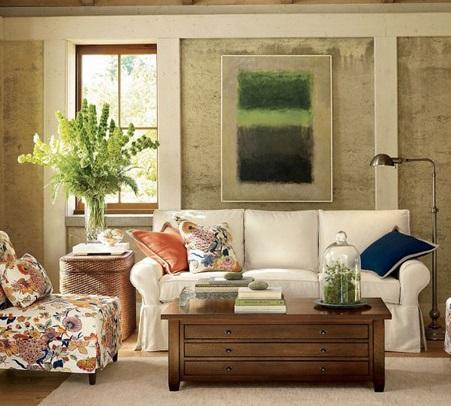 Decoração de sala com móveis antigos