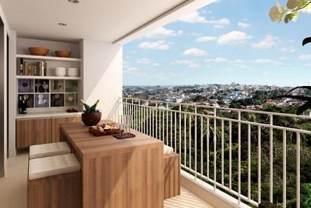 Decoração de varanda gourmet em apartamento