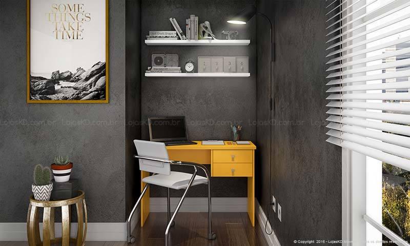 Home office pequeno e planejado