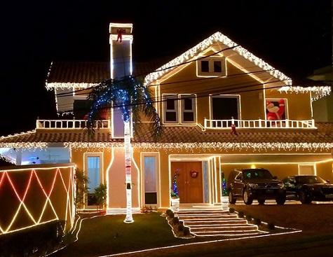 Decoração de natal para fachadas residenciais