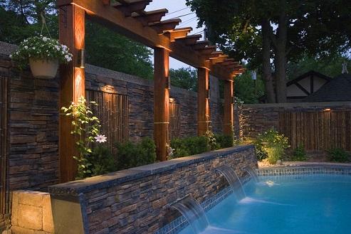 muros de piscinas decorados