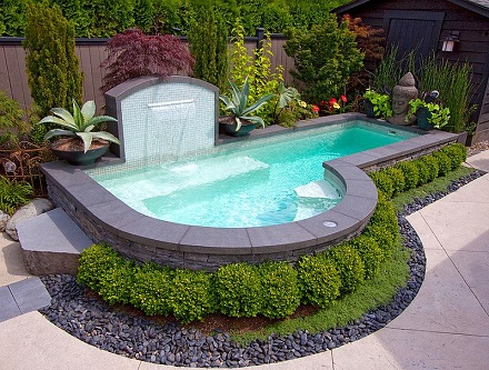 Projeto de piscina pequena