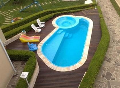 Decoração para piscina de fibra