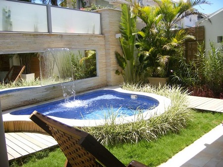 Decoração para piscina e jardim