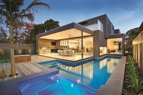 Piscina residencial moderna 2 decorando casas for Modelos de piscinas modernas