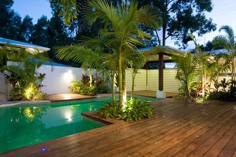 Piscina residencial paisagismo decorando casas for Alberca residencial