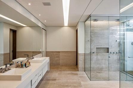 Box de banheiros modernos decorando casas for Pisos modernos pequenos