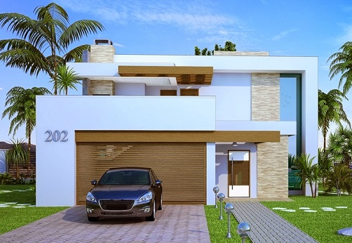 Fachadas de casas com cores claras decorando casas for Fachadas contemporaneas para casas